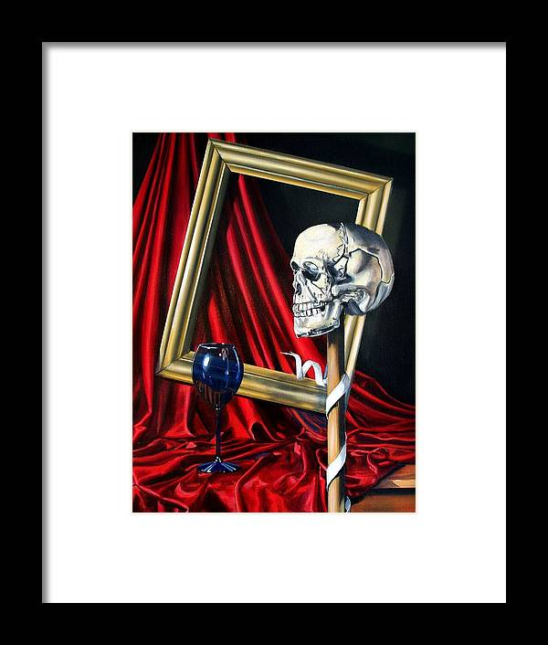 Art Framed Print featuring the painting Still Life Of Six Elements by RB McGrath