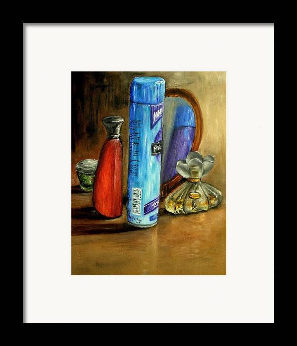 Still Life Framed Print featuring the painting Still Life Oil Painting by Natalja Picugina