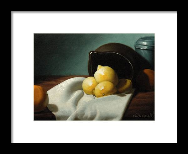 Still Life Painting Framed Print featuring the painting Still Life Painting Three Beauties by Eric Bossik