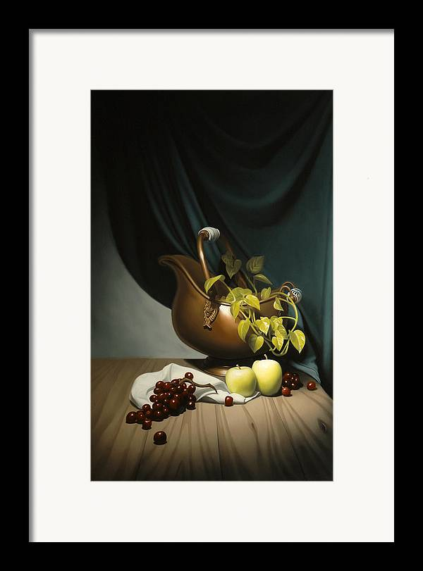 Still Life Painting Framed Print featuring the painting Still Life Painting Zanndam Evening by Eric Bossik