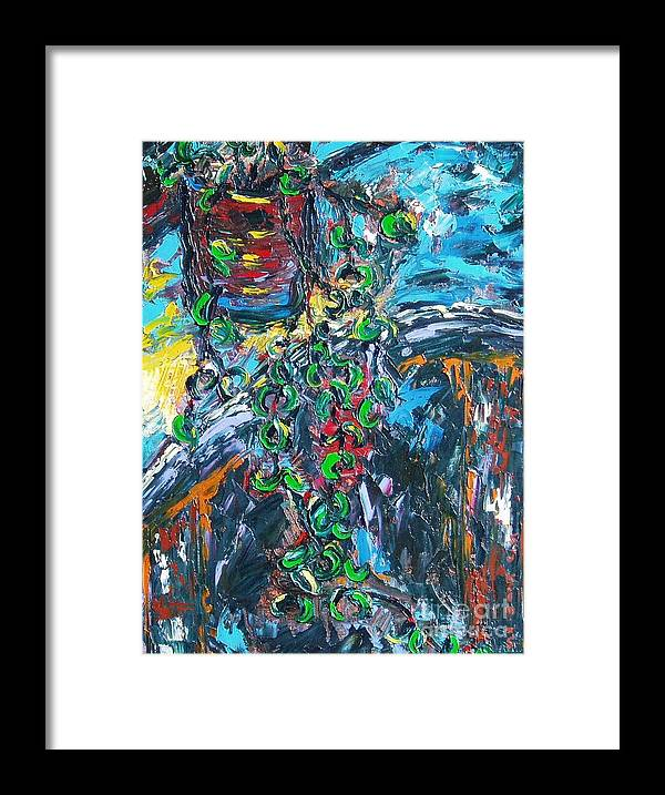 Sjkim Art Framed Print featuring the painting Abstract Still Life by Seon-Jeong Kim