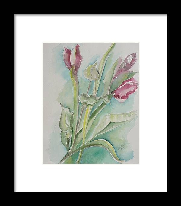 Floral Framed Print featuring the painting Still Life Spring by Kathy Mitchell