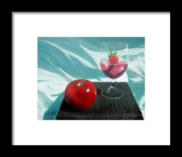 Still Life Framed Print featuring the painting Still Life by Tony Rodriguez