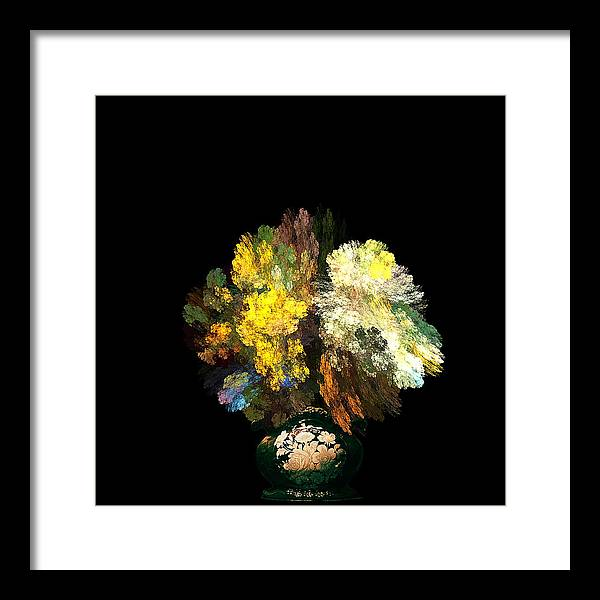 Still Framed Print featuring the photograph Still Life With Flowers by Viktor Savchenko