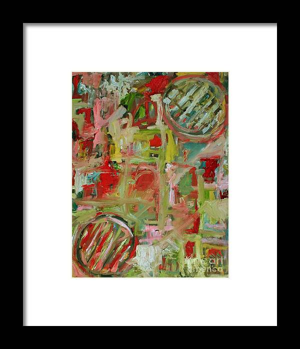 Abstract Framed Print featuring the painting Still Life With Fruit by Michael Henderson