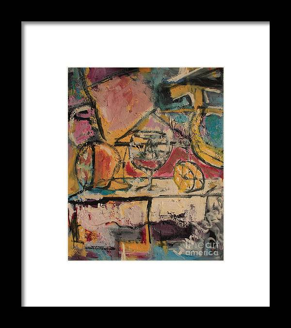 Stil Life Framed Print featuring the painting Still Life with Glass by Michael Henderson
