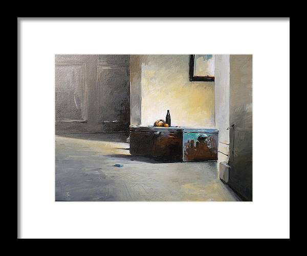 Still Life Framed Print featuring the painting Still Life With Mirror by Tony Belobrajdic