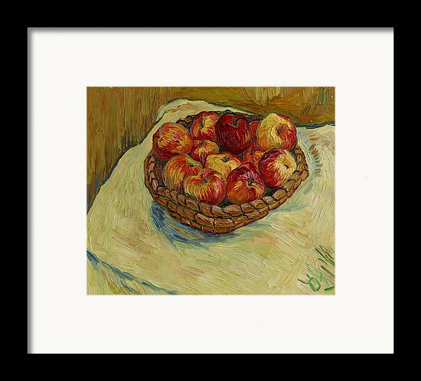 Still Life Framed Print featuring the painting Still Life With Moravian Apples by Vitali Komarov