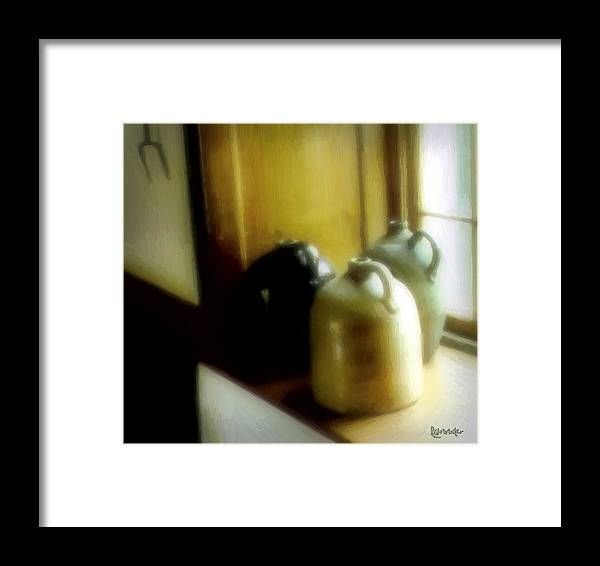 Antiques Framed Print featuring the digital art Still Life With Stoneware by RC DeWinter