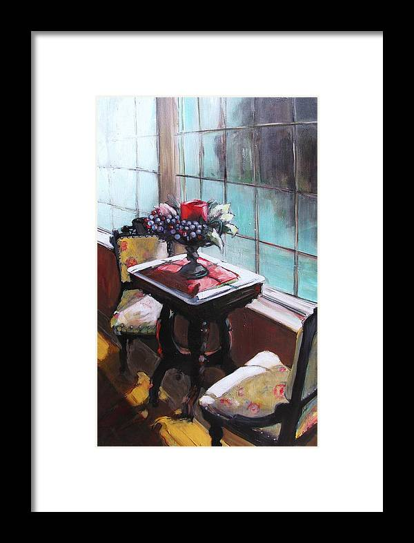 Sitting Room Framed Print featuring the painting Still Moment by Michelle Winnie