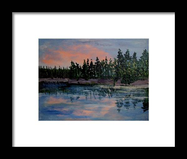Beaches Framed Print featuring the painting Still by Richard Hubal