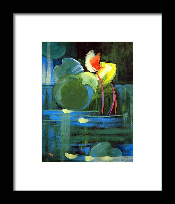 Abstract Framed Print featuring the painting Still Water by Suzanne McKee
