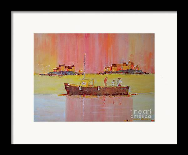 Boats Framed Print featuring the painting Still Waters by Art Mantia
