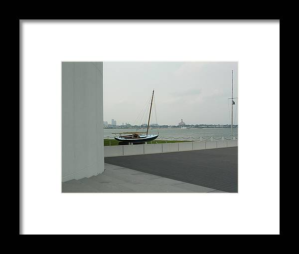 Sailboat Framed Print featuring the photograph Stilled Voyage by Nancy Ferrier