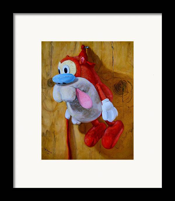 Realism Framed Print featuring the painting Stimpy by Donelli DiMaria