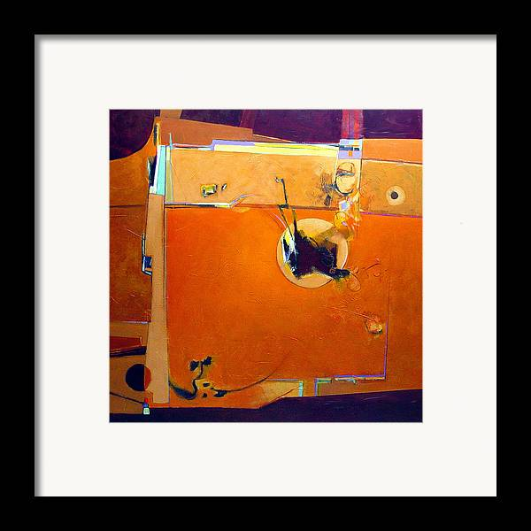 Abstract Framed Print featuring the painting Stimulus by Dale Witherow