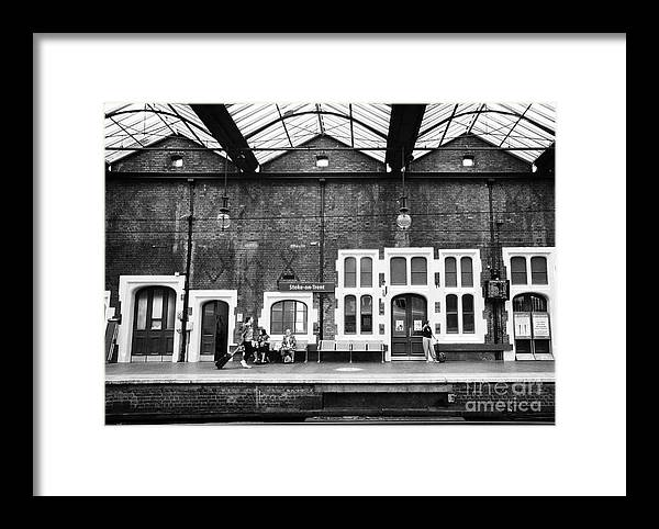 Stoke On Trent Framed Print featuring the photograph Stoke-on-trent Railway Station Uk by Joe Fox