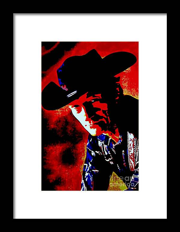 Musician Framed Print featuring the painting Stompin' Tom by Holger Majorahn