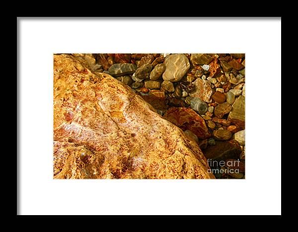 Stone Framed Print featuring the photograph Stone by Agusta Gudrun Olafsdottir