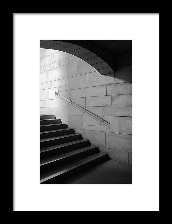 Nebraska Framed Print featuring the photograph Stone And Steps by Donald Schwartz