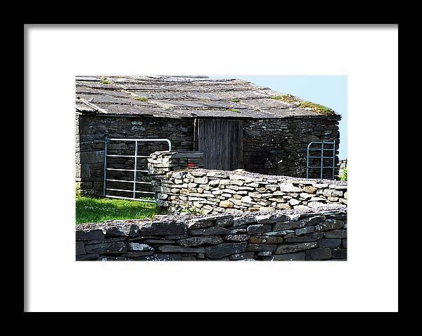 Irish Framed Print featuring the photograph Stone Barn Doolin Ireland by Teresa Mucha
