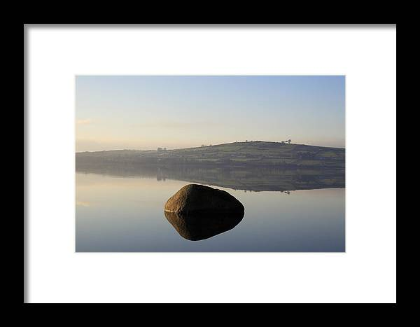 Landscape Framed Print featuring the photograph Stone Egg by Phil Crean