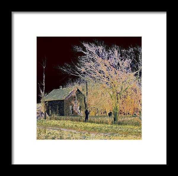 Farm Framed Print featuring the photograph Stone House by Ralph Steinhauer