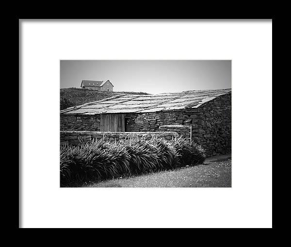 Irish Framed Print featuring the photograph Stone Structure Doolin Ireland by Teresa Mucha