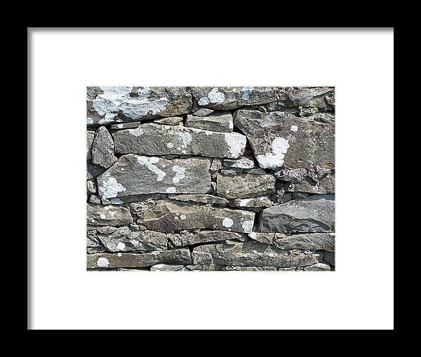 Irish Framed Print featuring the photograph Stone Wall Detail Doolin Ireland by Teresa Mucha