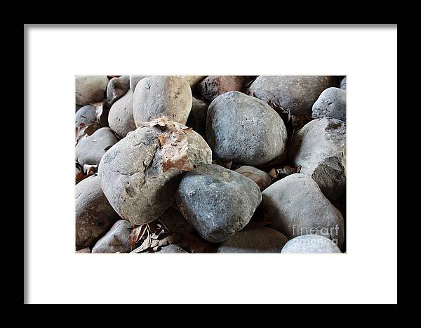 Stones Framed Print featuring the photograph Stones by Mesa Teresita