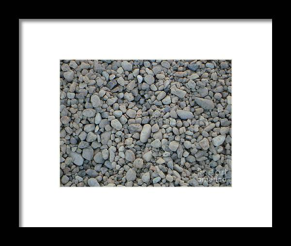 Pebbles Framed Print featuring the photograph Stones Texture by PJ Cloud