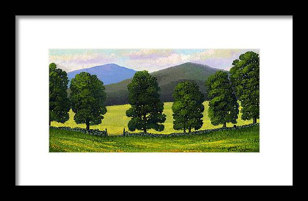 Landscape Framed Print featuring the painting Stonewall Field by Frank Wilson