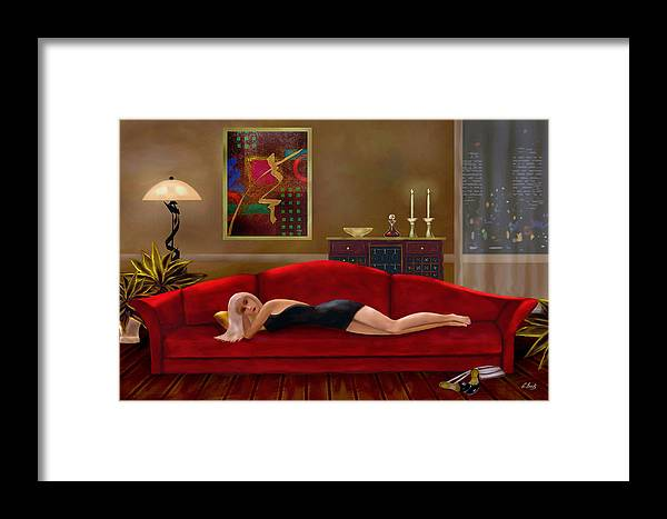 Contemporary Modern Framed Print featuring the painting Stood Up by Gordon Beck
