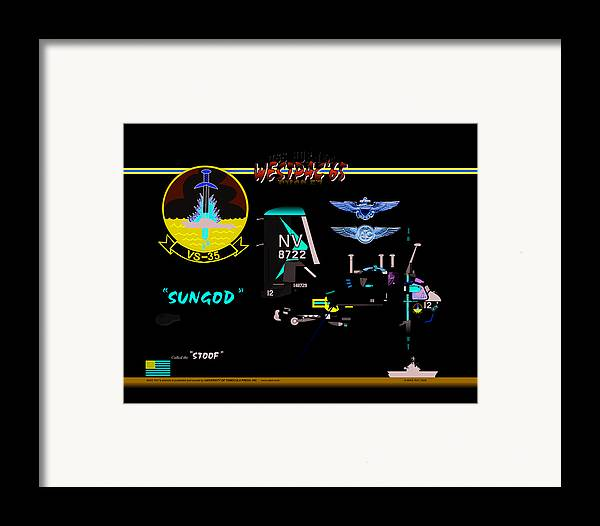 Aviation Framed Print featuring the digital art Stoof Caricature A by Mike Ray
