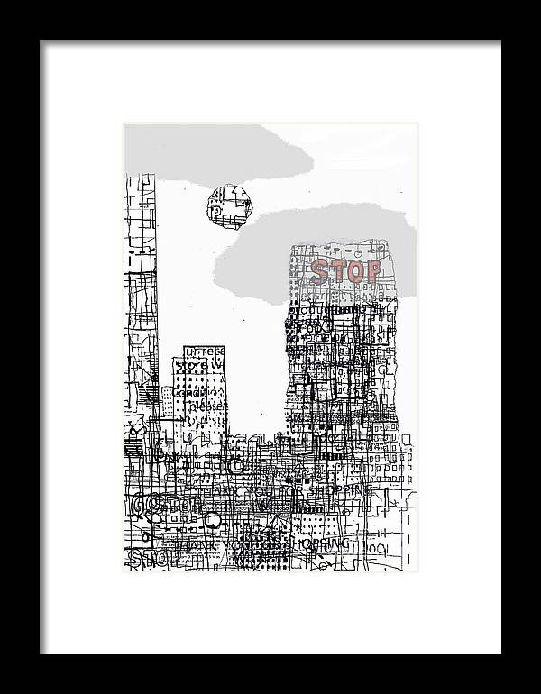 City Framed Print featuring the digital art Stop II by Andy Mercer