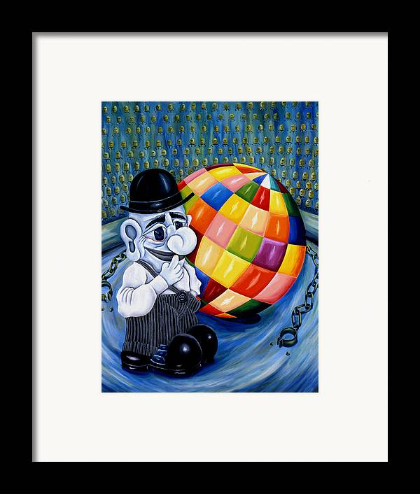 Pop Art Framed Print featuring the painting Stop The World Let Me Get Off by Tak Salmastyan