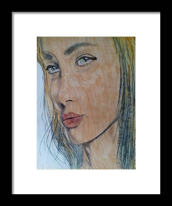Women Framed Print featuring the painting Stopping to Look and life by J Bauer