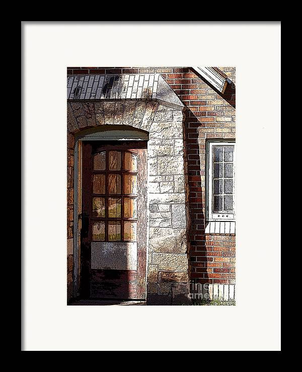 Door Framed Print featuring the photograph Storage Door by Steve Augustin