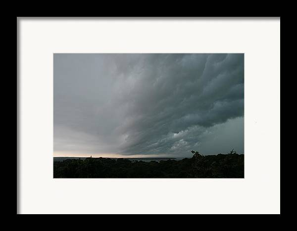 Storm Framed Print featuring the photograph Storm Approaches Montauk by Christopher Kirby