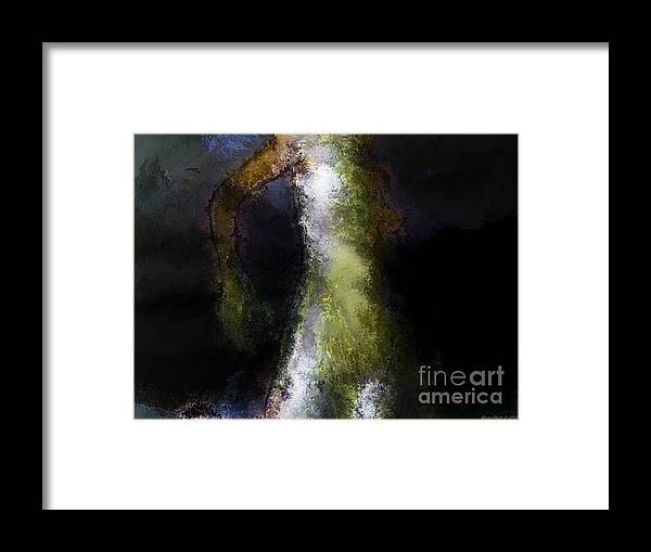 Storm Framed Print featuring the painting Storm Before Success by Shan Peck
