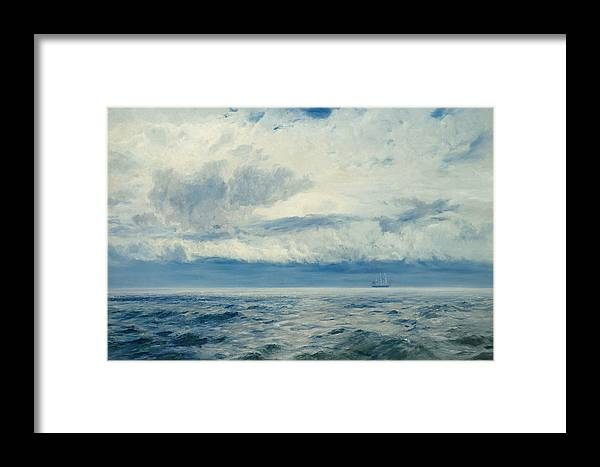 Storm Framed Print featuring the painting Storm Brewing by Henry Moore