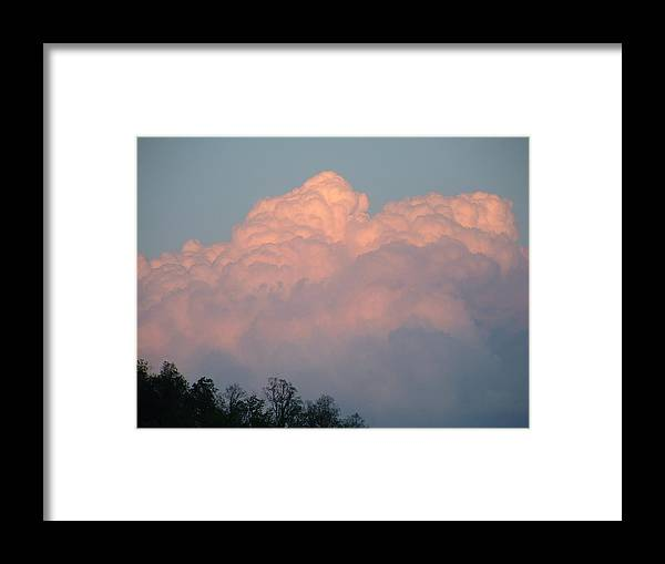 Nature Framed Print featuring the photograph Storm Building On The Sunset by Margaret G Calenda