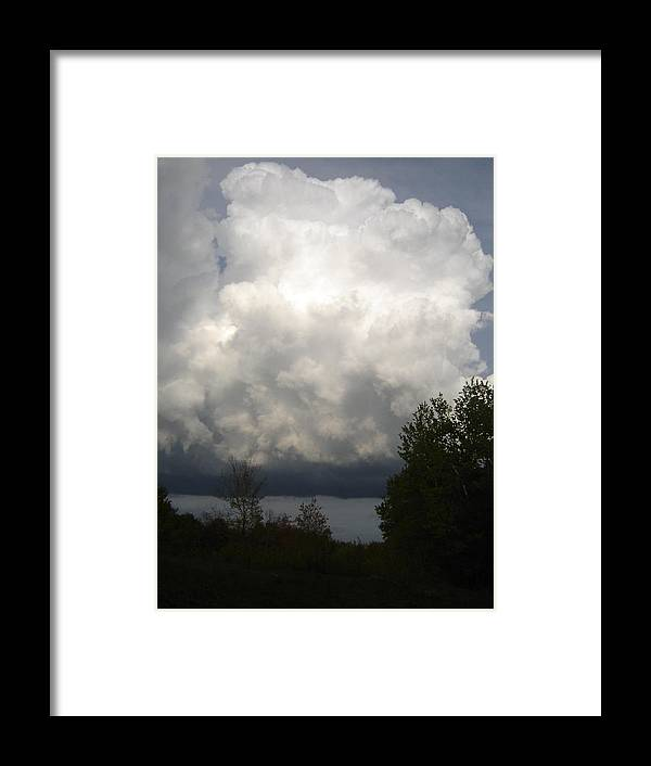 Nature Framed Print featuring the photograph Storm Cloud 2 by Dean Corbin