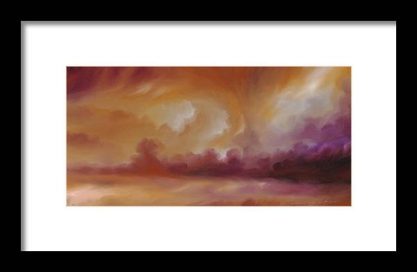 Tempest Framed Print featuring the painting Storm Clouds 2 by James Christopher Hill