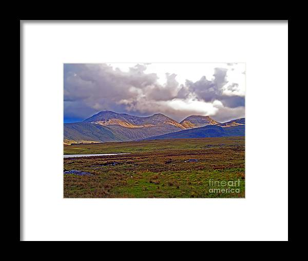 Fine Art Photography Framed Print featuring the photograph Storm Clouds Ahead In Connemara by Patricia Griffin Brett