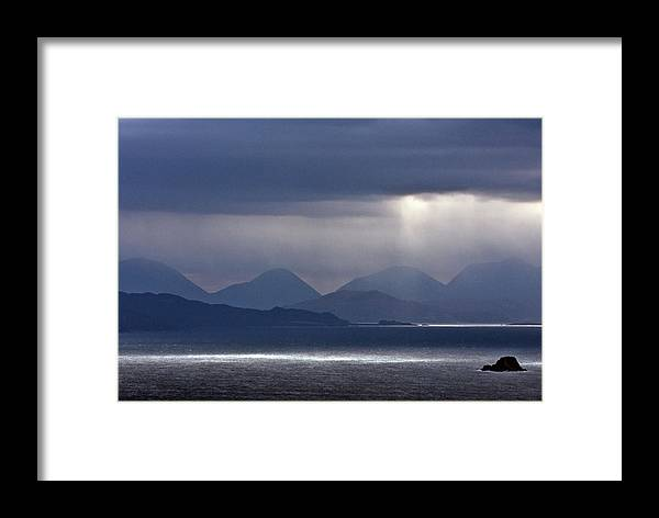 Scotland Framed Print featuring the photograph Storm Clouds On The Cuillins by John McKinlay