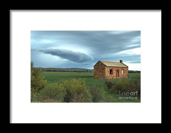 Mid Murray Region Framed Print featuring the photograph Storm Coming by Jan Pudney