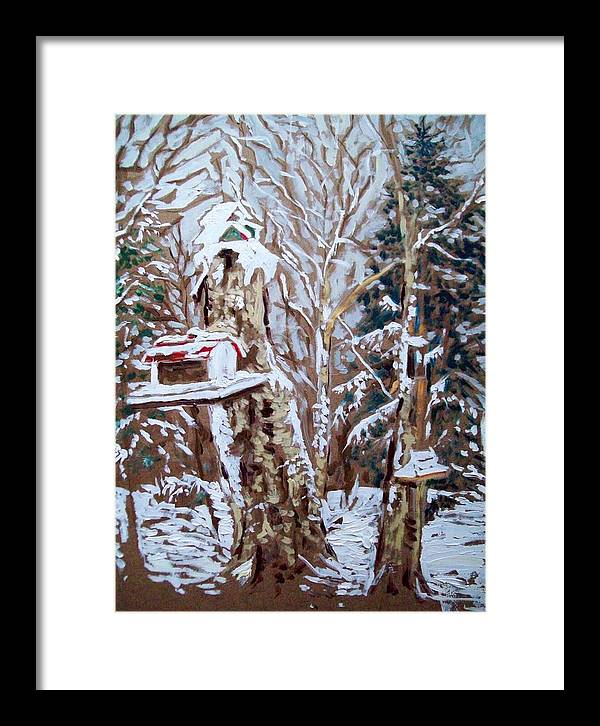 Birds Framed Print featuring the painting Storm Day by Norman F Jackson