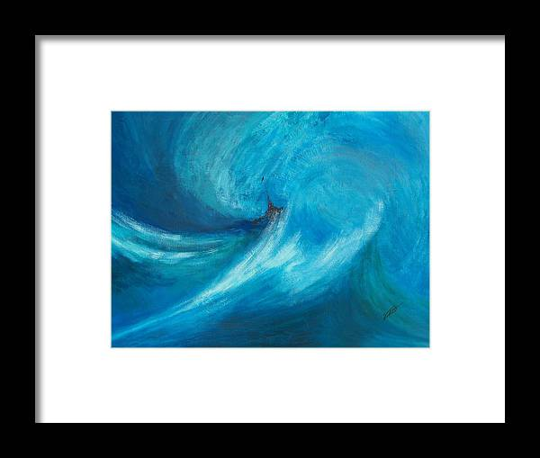 Landscape Framed Print featuring the painting Storm by Dennis Vebert