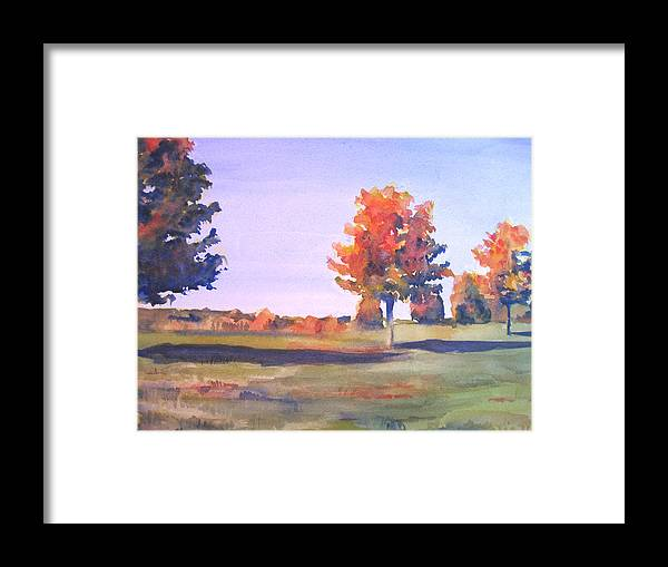 Landscape Framed Print featuring the painting Storm King Afternoon by Joyce Kanyuk